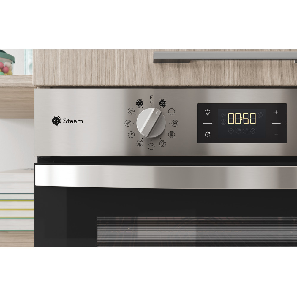 Indesit OVEN Built-in KFWS 3844 H IX UK Electric A+ Lifestyle control panel