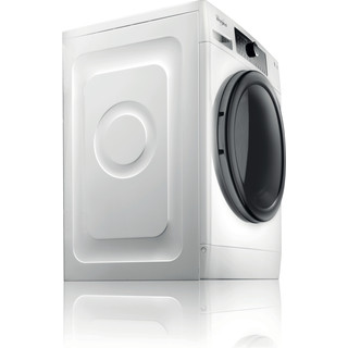 Whirlpool Washing machine Free-standing FSCR 90430 White Front loader A+++ Perspective