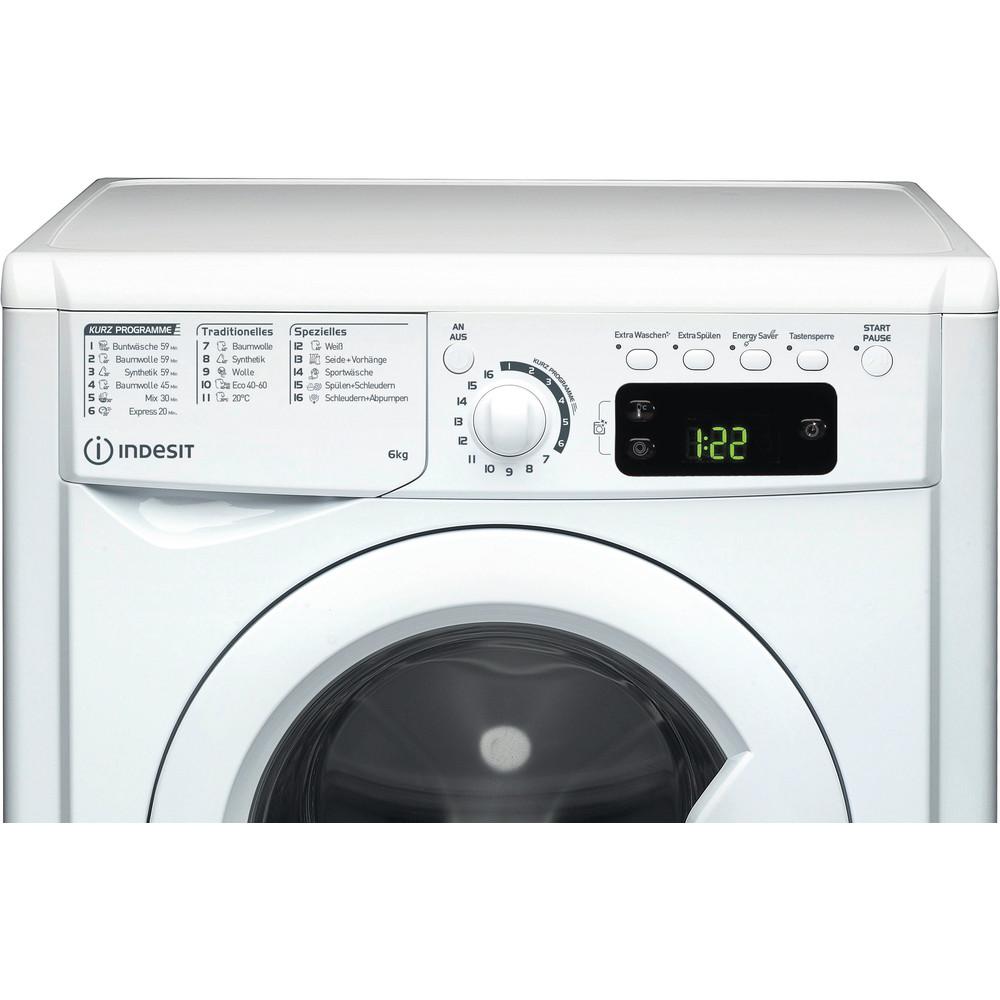 Indesit Waschmaschine Freistehend EWSE 61251 W DE N Weiß Frontlader F Control panel