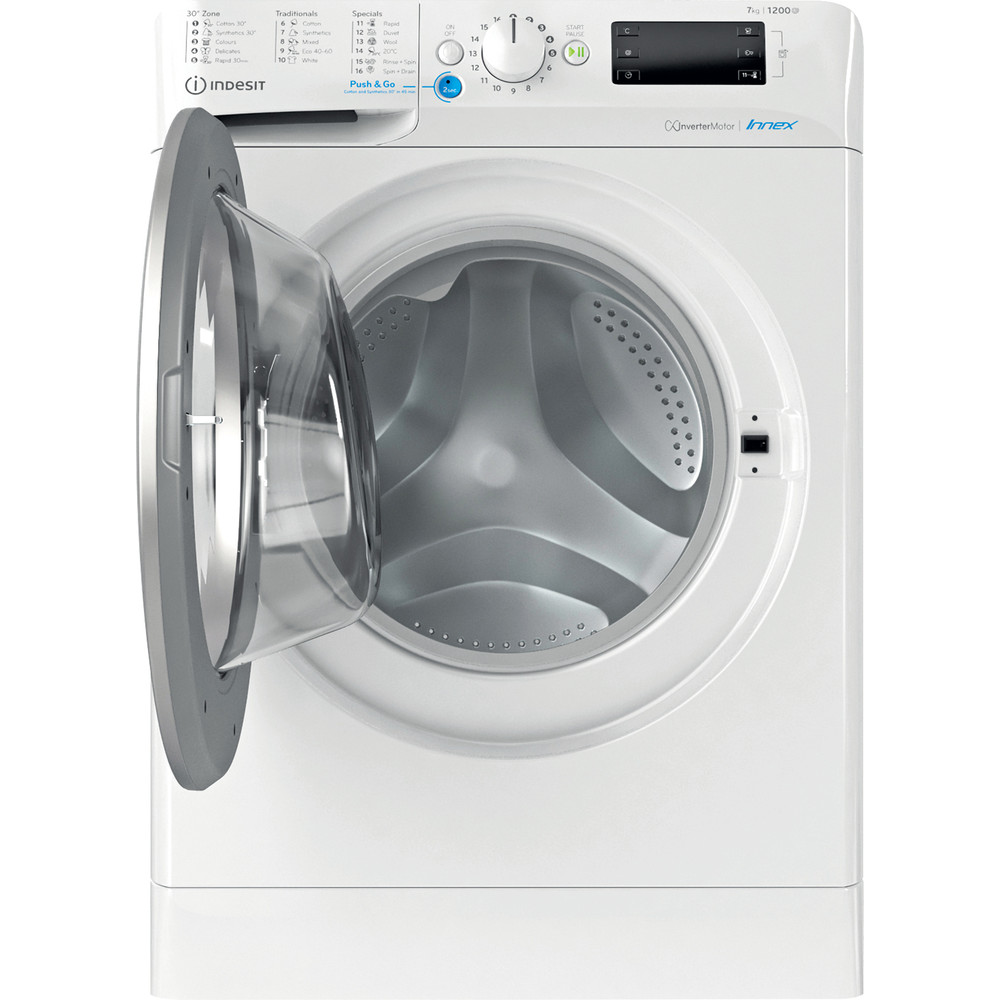 Indesit Πλυντήριο ρούχων Ελεύθερο BWE 71283X WS EE N Λευκό Front loader D Frontal open