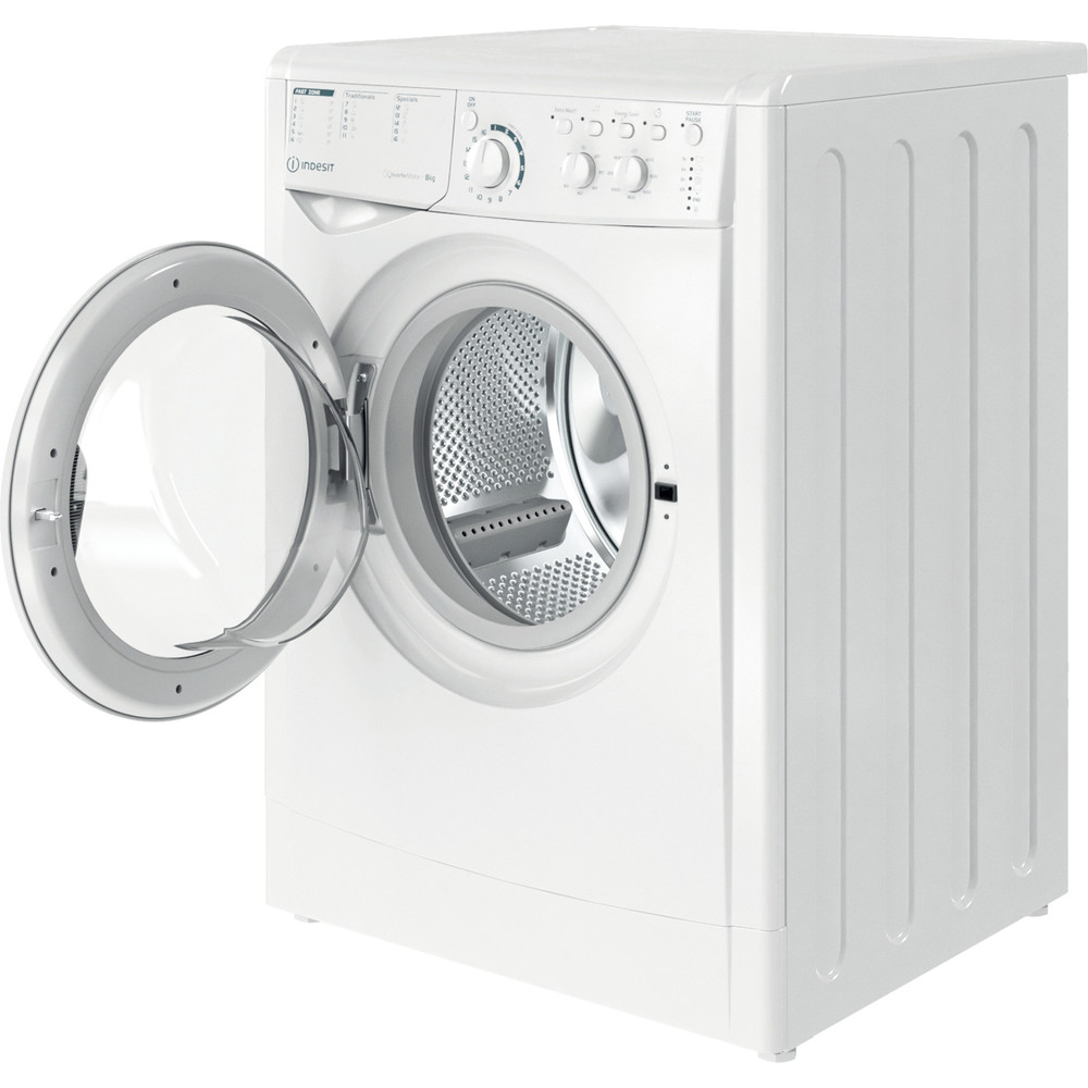 Indesit Lave-linge Pose-libre EWC 81483 W EU N Blanc Frontal D Perspective open