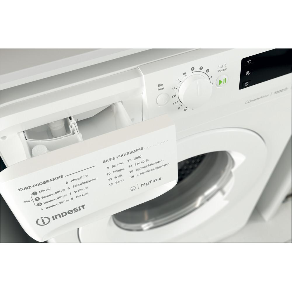 Indesit Waschmaschine Freistehend MTWE 81283E W DE Weiß Frontlader D Drawer