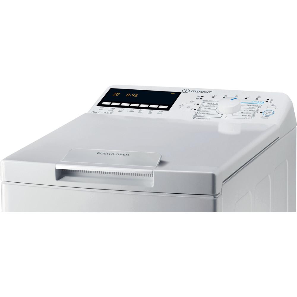 Indsit Maşină de spălat rufe Independent BTW B7220P EU/N Alb Încărcare Verticală E Control panel