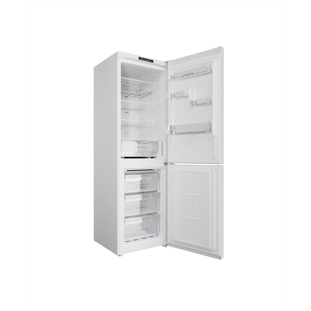 Indesit Kombinētais ledusskapis/saldētava Brīvi stāvošs INFC8 TI21W Balts 2 doors Perspective open