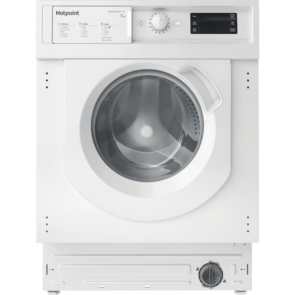 Hotpoint Washing machine Built-in BI WMHG 71483 UK N White Front loader D Frontal