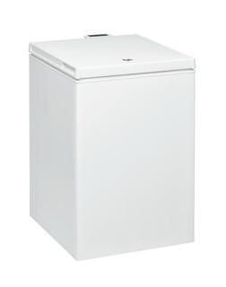 Fritstående Whirlpool-kummefryser: hvid farve - WHS1421