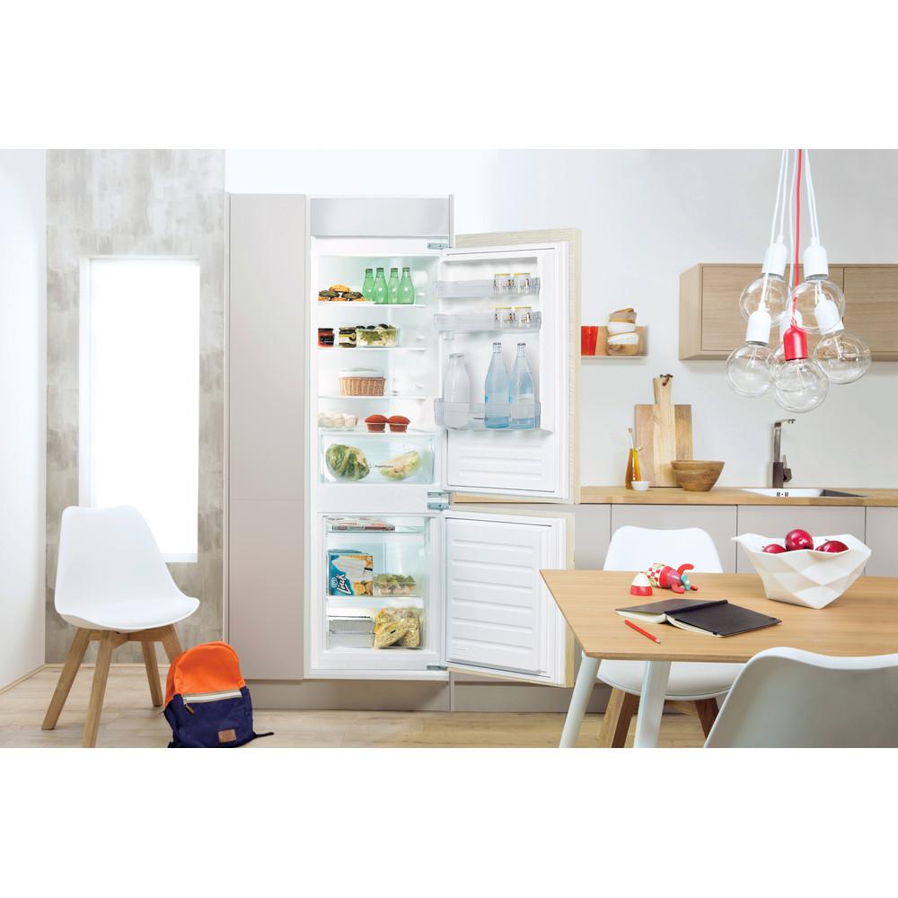 Indesit Combinazione Frigorifero/Congelatore Da incasso B 18 A1 D S/I MC 1 Bianco 2 porte Lifestyle frontal open