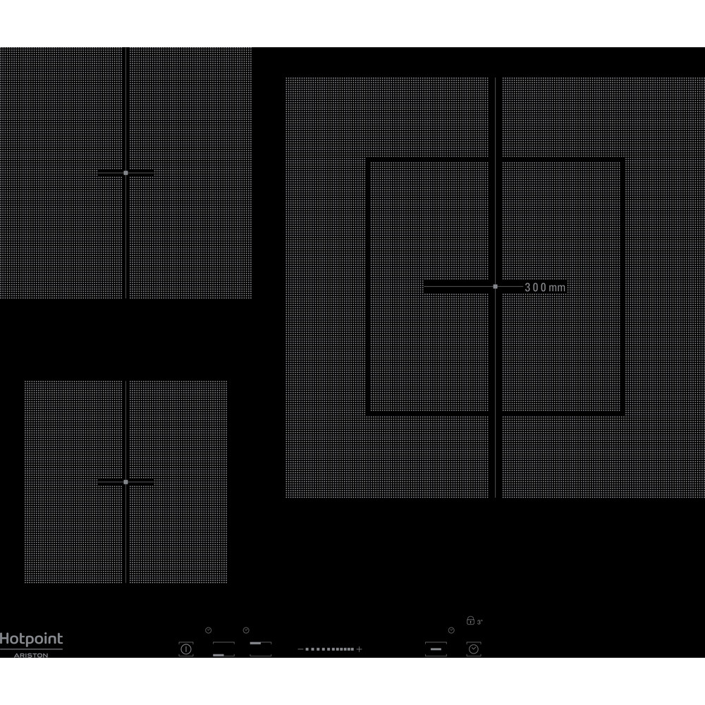 Hotpoint_Ariston Варочная поверхность KIS 630 XLD B Черный Induction vitroceramic Frontal