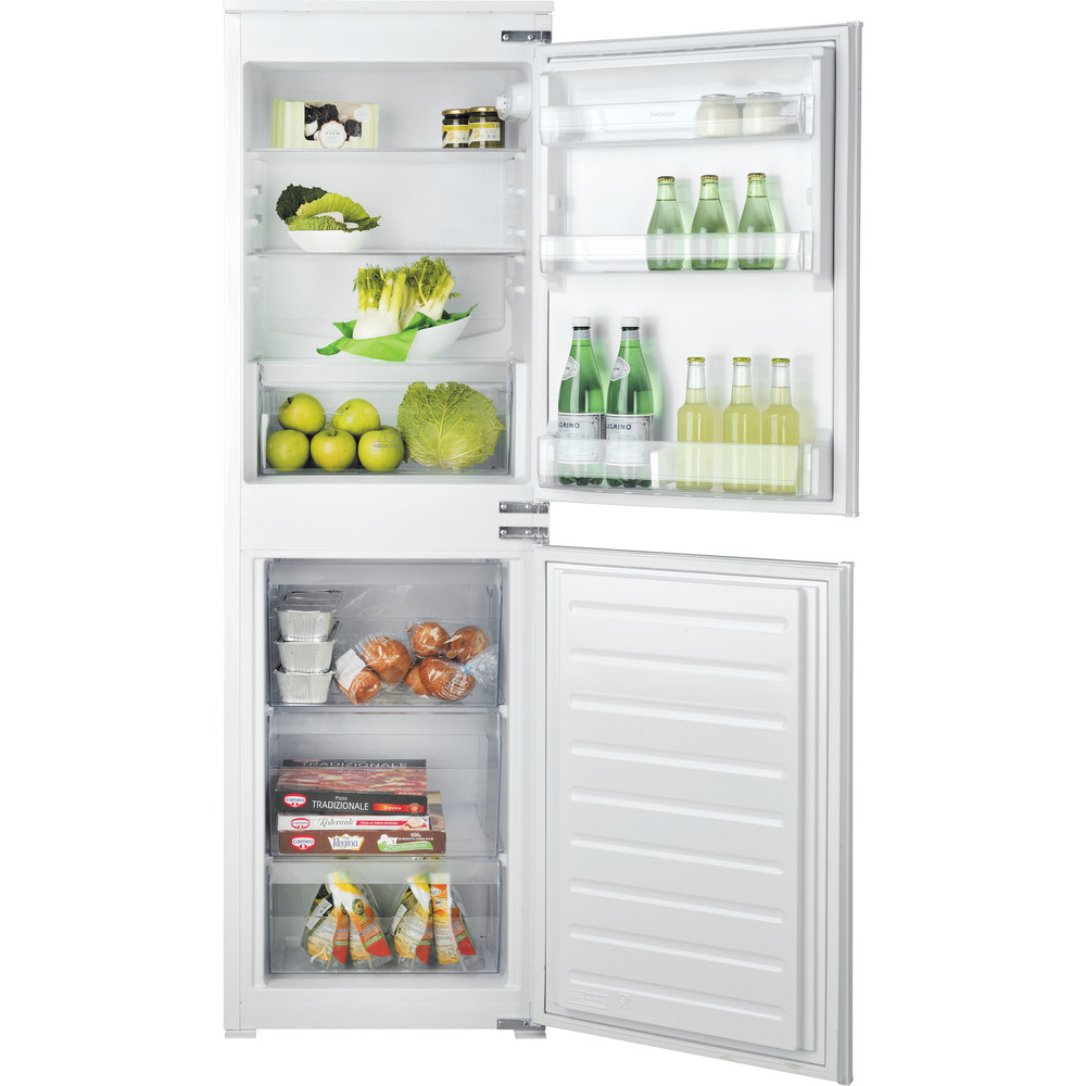 Hotpoint Fridge-Freezer Combination Built-in HMCB 50501 UK White 2 doors Frontal open