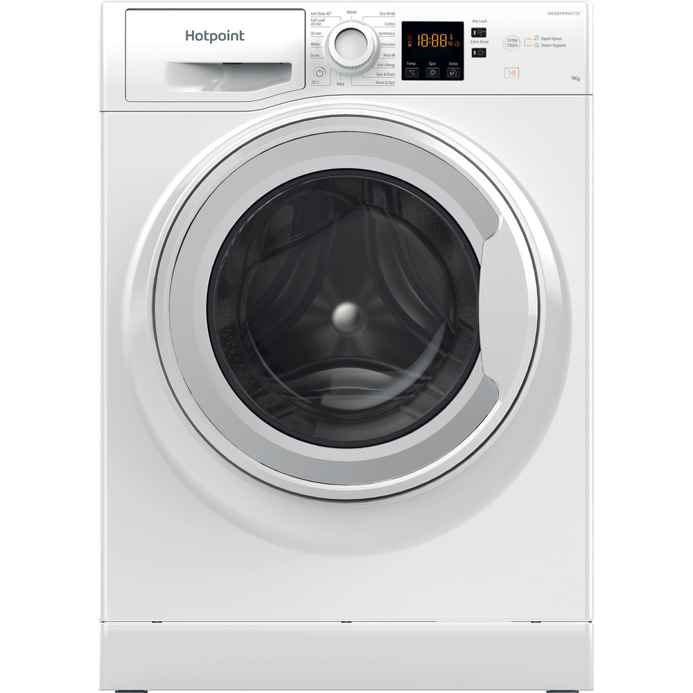 Hotpoint Washing machine Free-standing NSWF 943C W UK N White Front loader A+++ Frontal