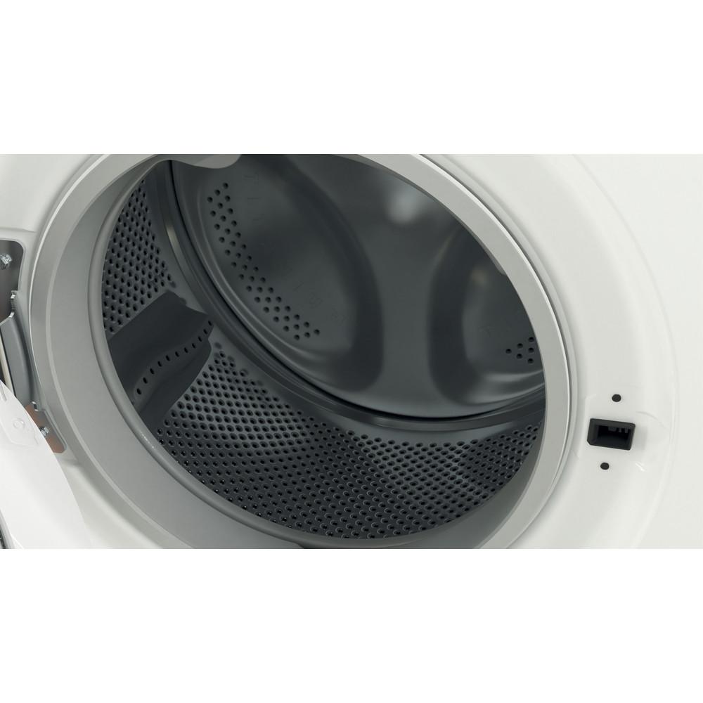 Indesit Kombineret vaskemaskine/tørretumbler Fritstående EWDE 761483 WS EE N Hvid Frontbetjent Drum