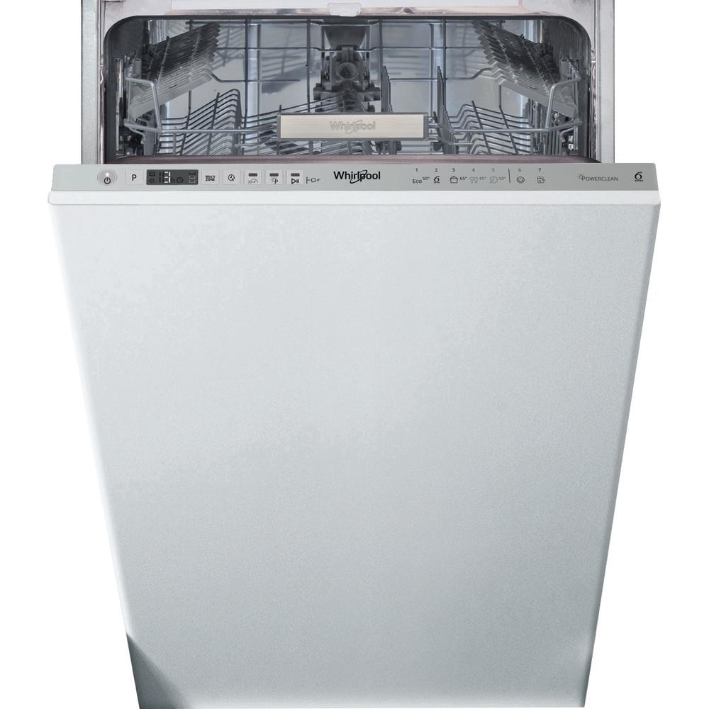 Whirlpool integrert oppvaskmaskin: farge stål, 45 cm - WSIO 3T223 PE X