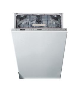 Integreret Whirlpool-opvaskemaskine: inox-farve, slank model - WSIO 3T223 PE X