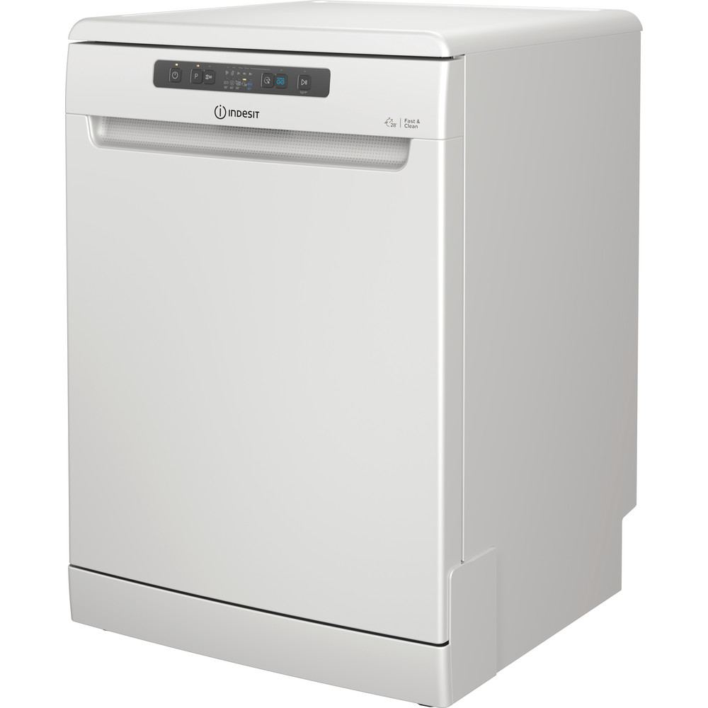 Indesit Dishwasher Free-standing DFC 2C24 UK Free-standing E Perspective
