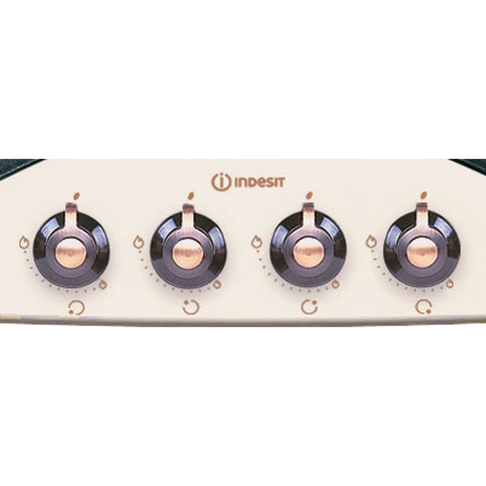Indesit Варильна поверхня PN 641 /I (OW) Old White Газова Control panel