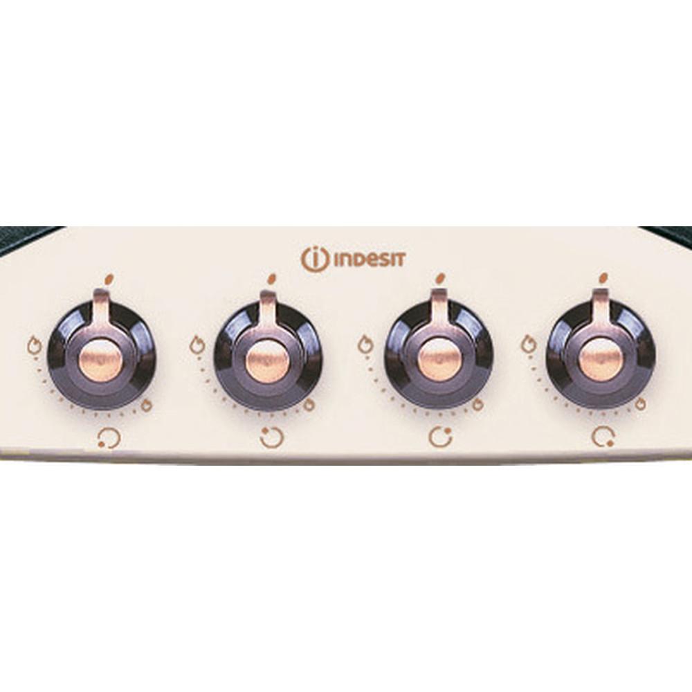 Indesit Варочная поверхность PN 641 /I (OW) Винтажный белый Газовая Control panel
