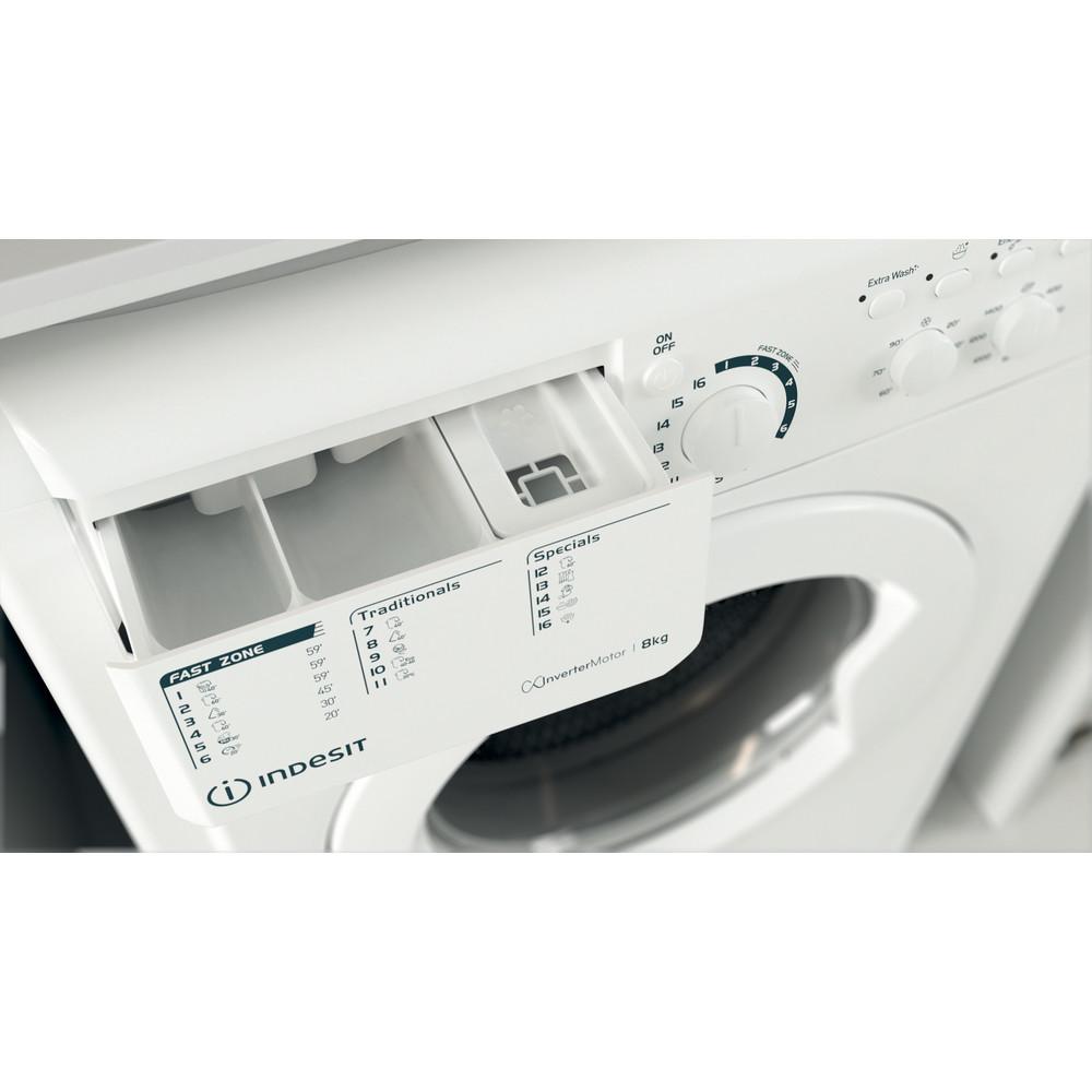 Indesit Lave-linge Pose-libre EWC 81483 W EU N Blanc Frontal D Drawer