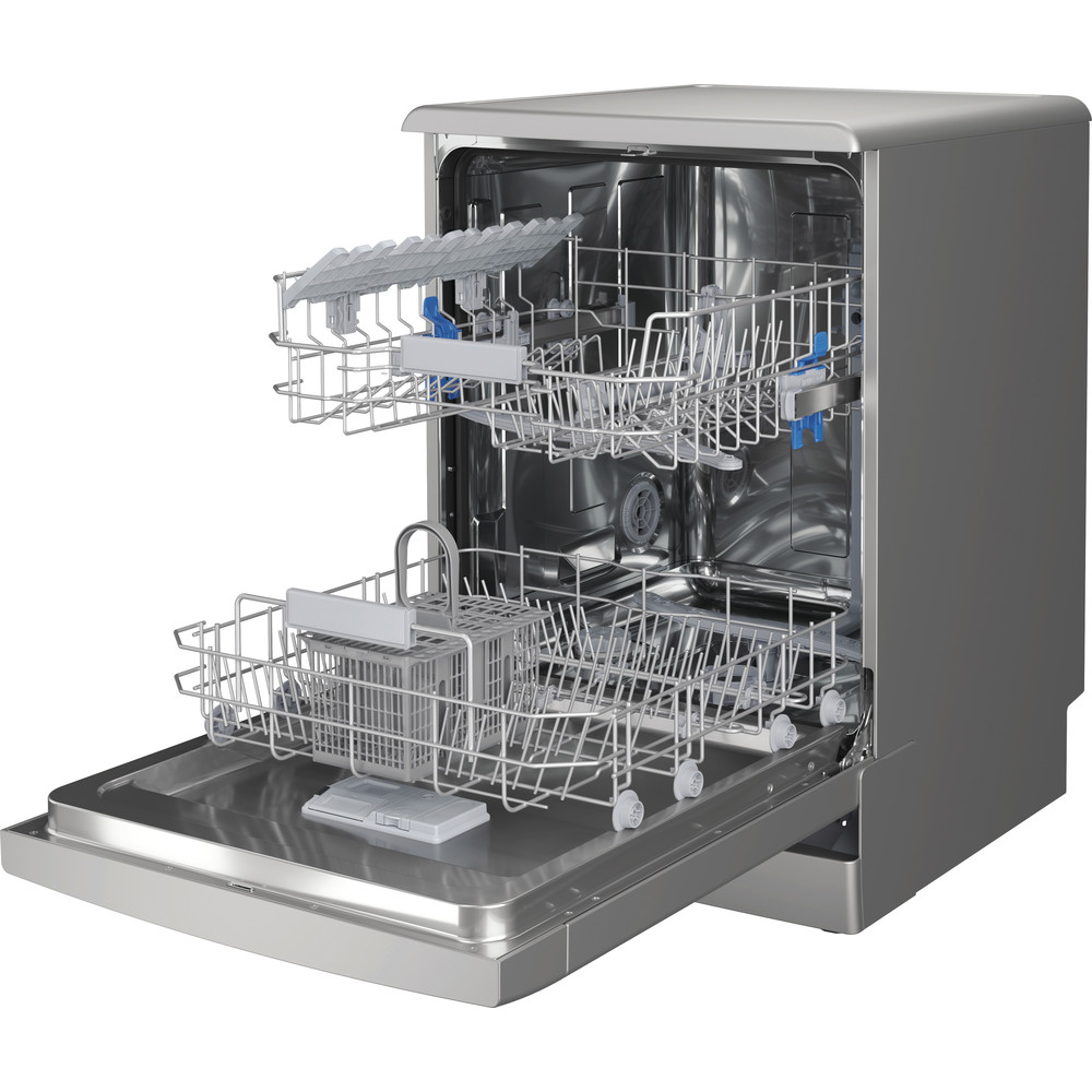 Indesit Dishwasher Free-standing DFC 2B+16 S UK Free-standing F Perspective open