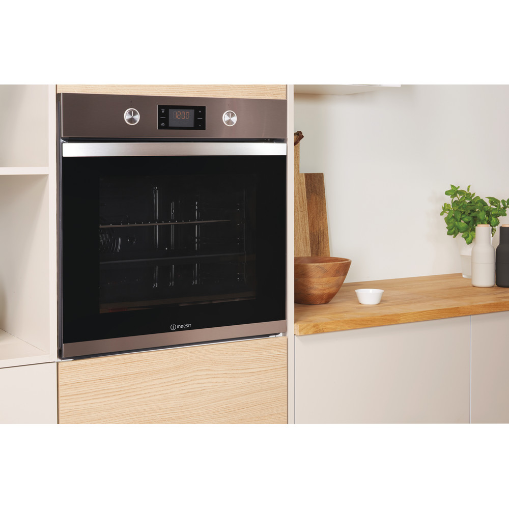 Indesit OVEN Built-in KFW 3841 JH IX UK Electric A+ Lifestyle perspective