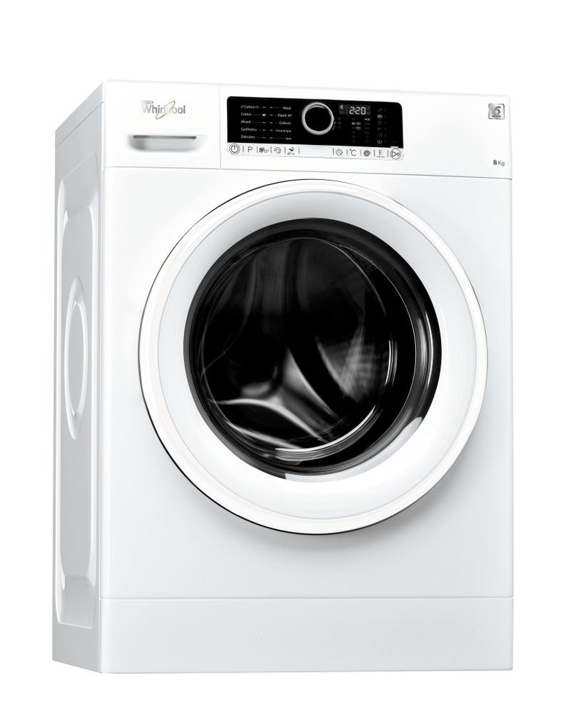 Whirlpool Washing machine مفرد FSCR 80211 أبيض محمل أمامي A+++ Perspective