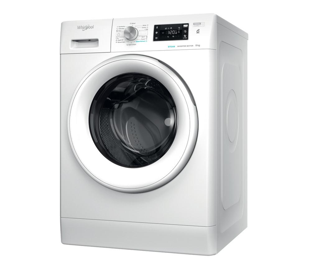Whirlpool Washing machine Samostojeća FFB 8258 WV EE Bela Prednje punjenje Perspective