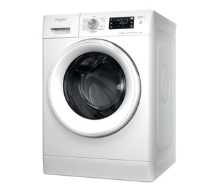Fritstående Whirlpool-vaskemaskine med frontbetjening: 8 kg - FFB 8448 WV EU