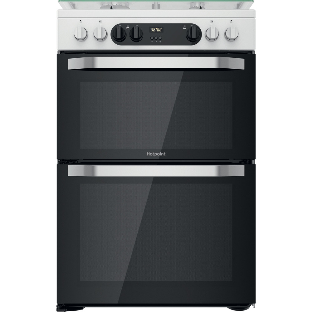 Hotpoint Double Cooker HDM67G9C2CW/UK White A Frontal