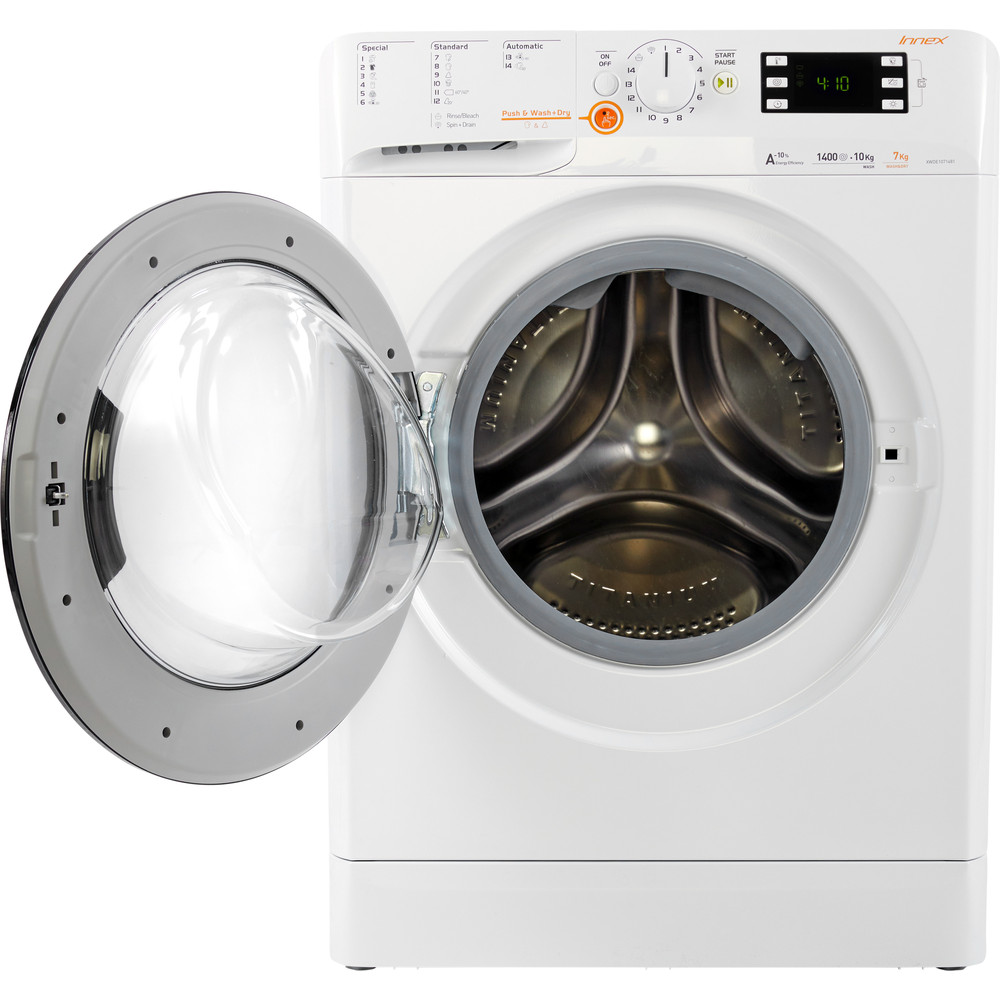 Indesit Vaskemaskin med tørketrommel Frittstående XWDE 1071481XWKKK EU Hvit Front loader Frontal open