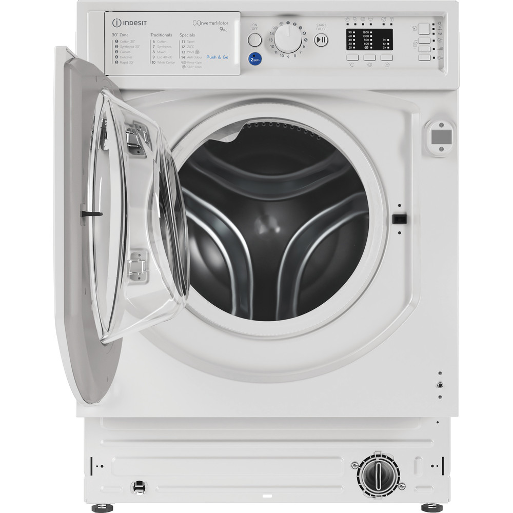 Indesit Washing machine Built-in BI WMIL 91484 UK White Front loader C Frontal open