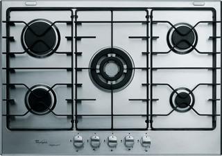 Whirlpool gas hob: 5 gas burners - AKT 725/IXL