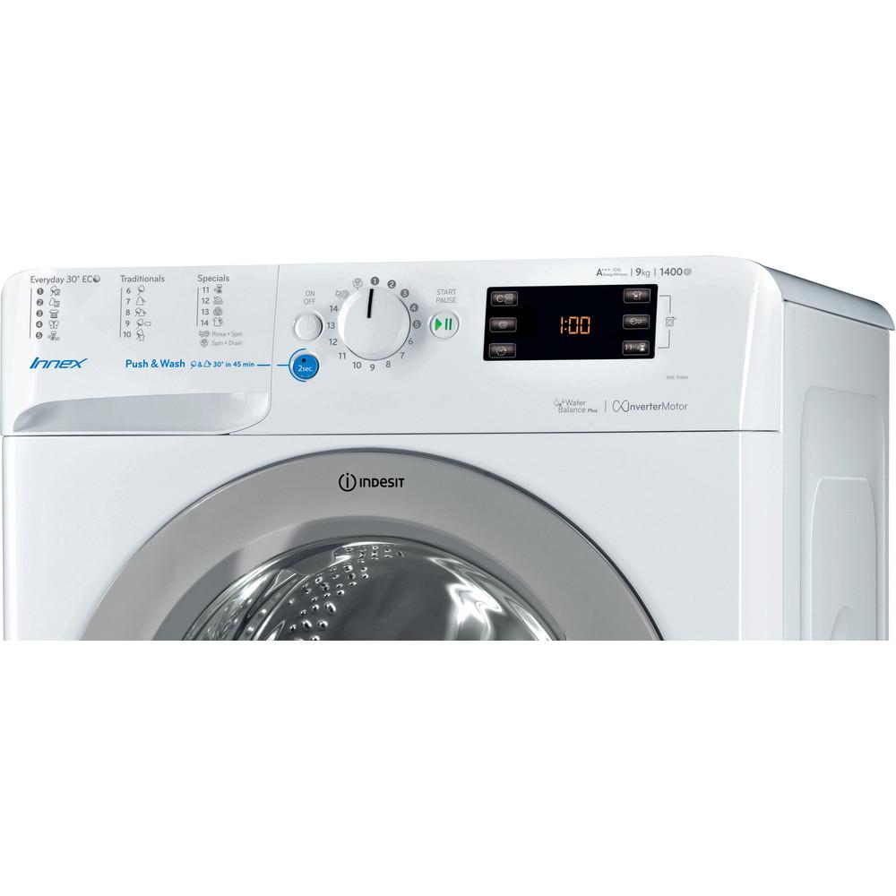 Indesit Pračka Volně stojící BWE 91484X WSSS EU Bílá Front loader A+++ Control panel