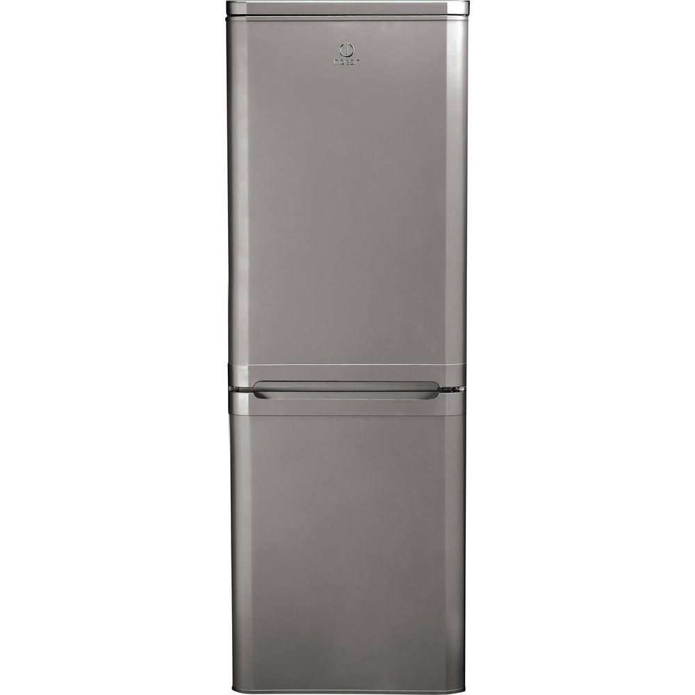 Indesit Combinazione Frigorifero/Congelatore A libera installazione NCAA 55 NX Inox 2 porte Frontal