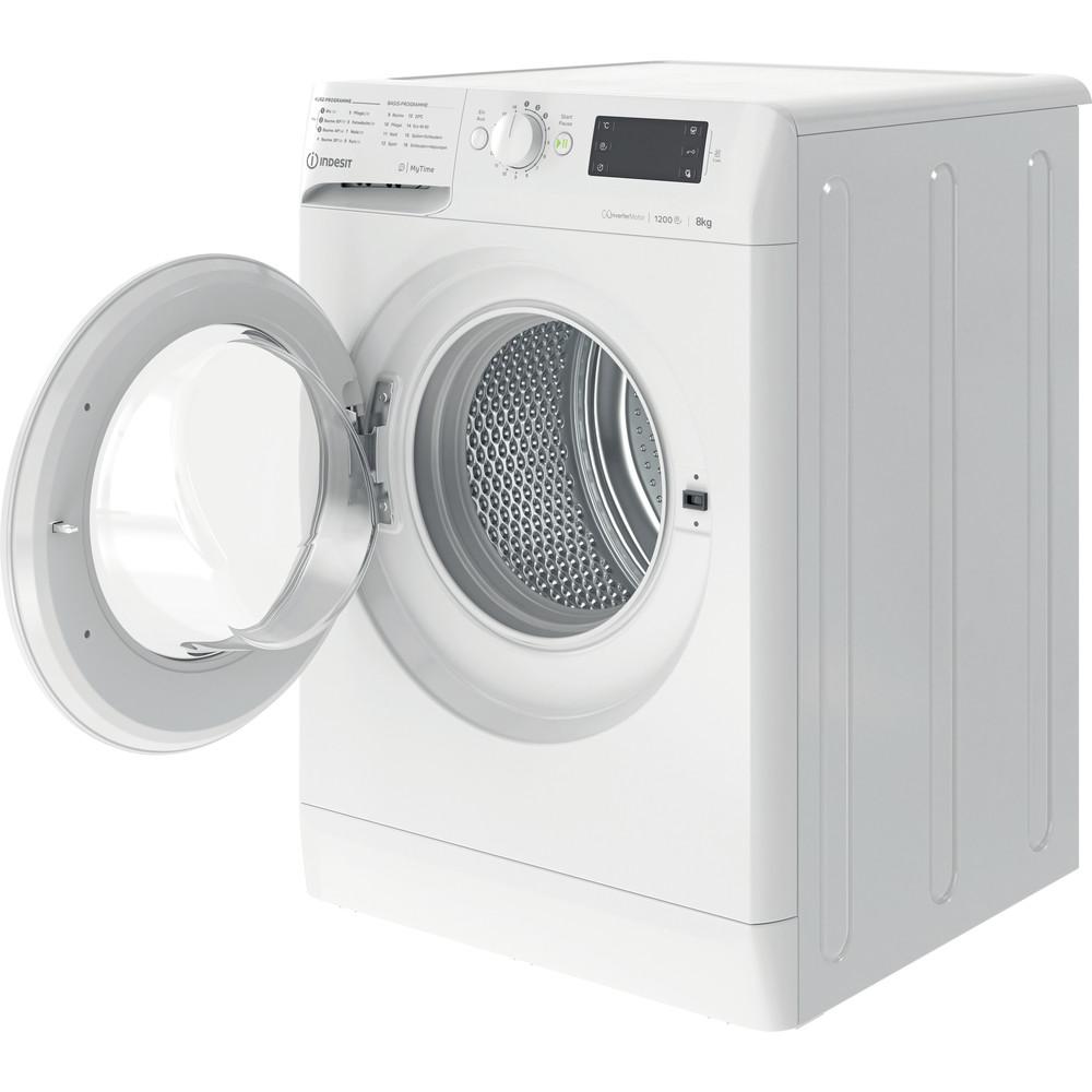 Indesit Waschmaschine Freistehend MTWE 81283E W DE Weiß Frontlader D Perspective open