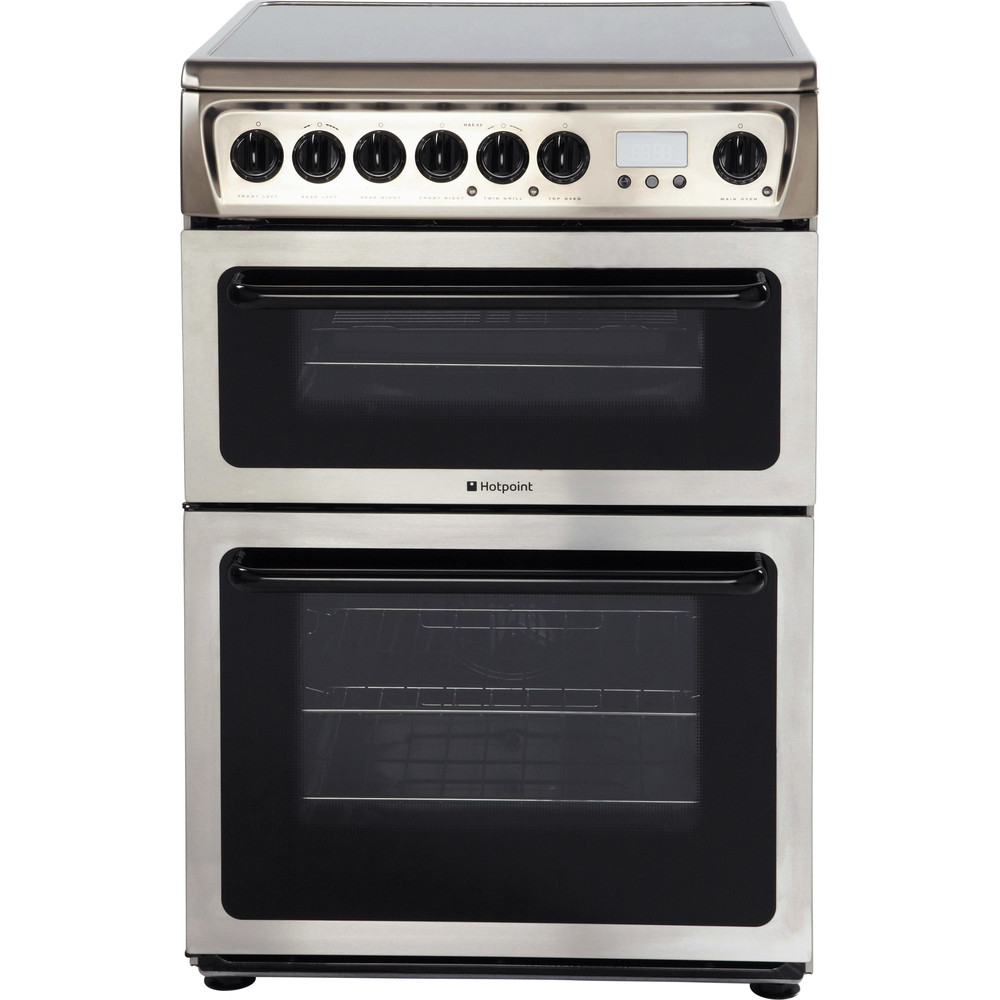 Hotpoint Double Cooker HAE60X S Inox A Vitroceramic Frontal