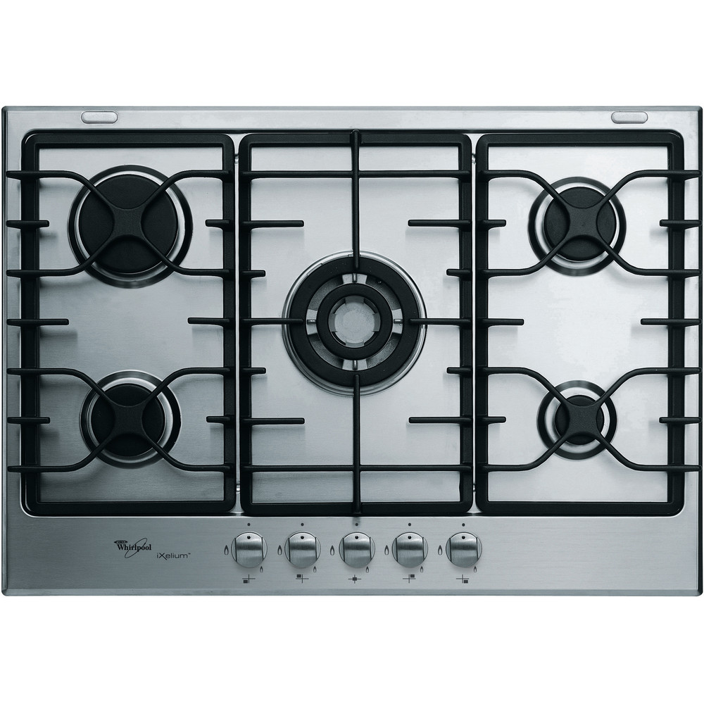 Encimera de gas Whirlpool: 5 quemadores de gas - AKT 780/IXL/01