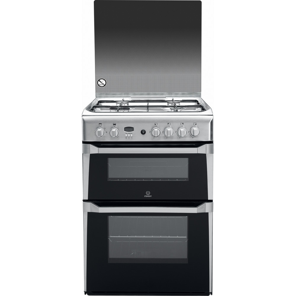 Indesit Double Cooker ID60G2(X) Inox A+ Stainless steel Frontal