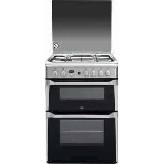 60cm: Gas freestanding double cooker