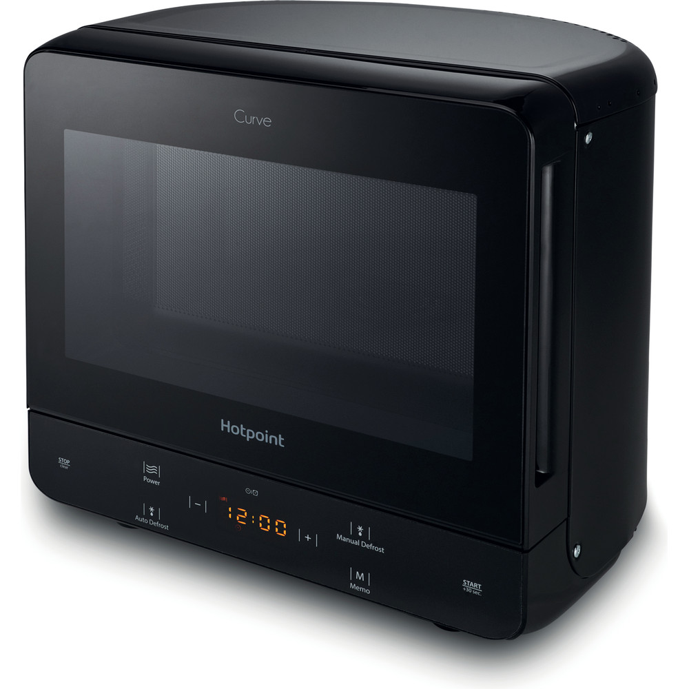 Hotpoint Microwave Free-standing MWH 1331 B Black Electronic 13 MW only 700 Perspective
