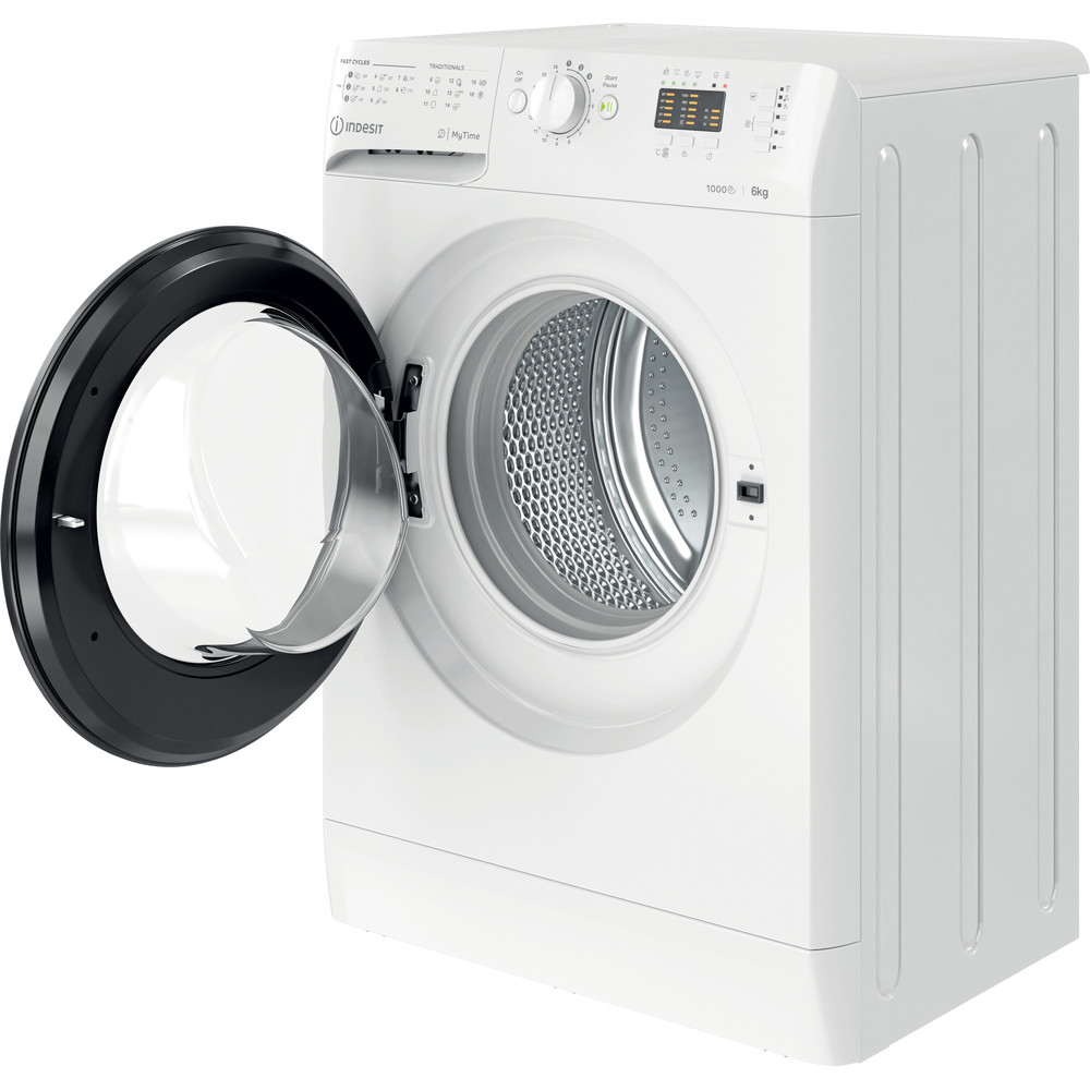 Indesit Пральна машина Соло OMTWSA 61053 WK EU Білий Front loader A+++ Perspective open
