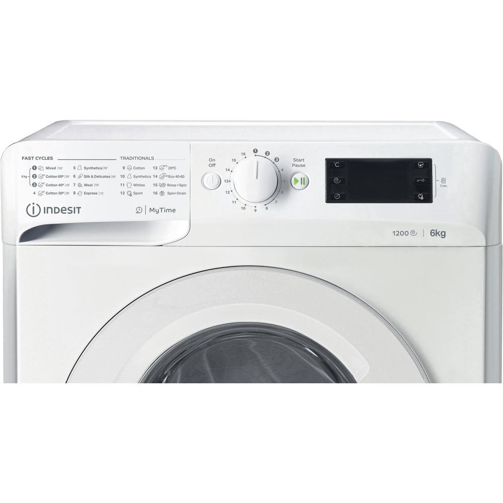 Indsit Maşină de spălat rufe Independent MTWSE 61252 W EE Alb Încărcare frontală A +++ Control panel