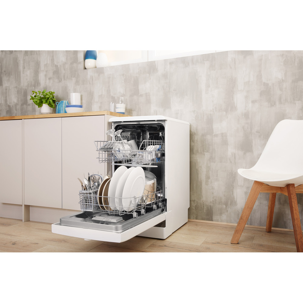 Indesit Dishwasher Free-standing DSFE 1B19 C UK Free-standing A+ Lifestyle perspective open