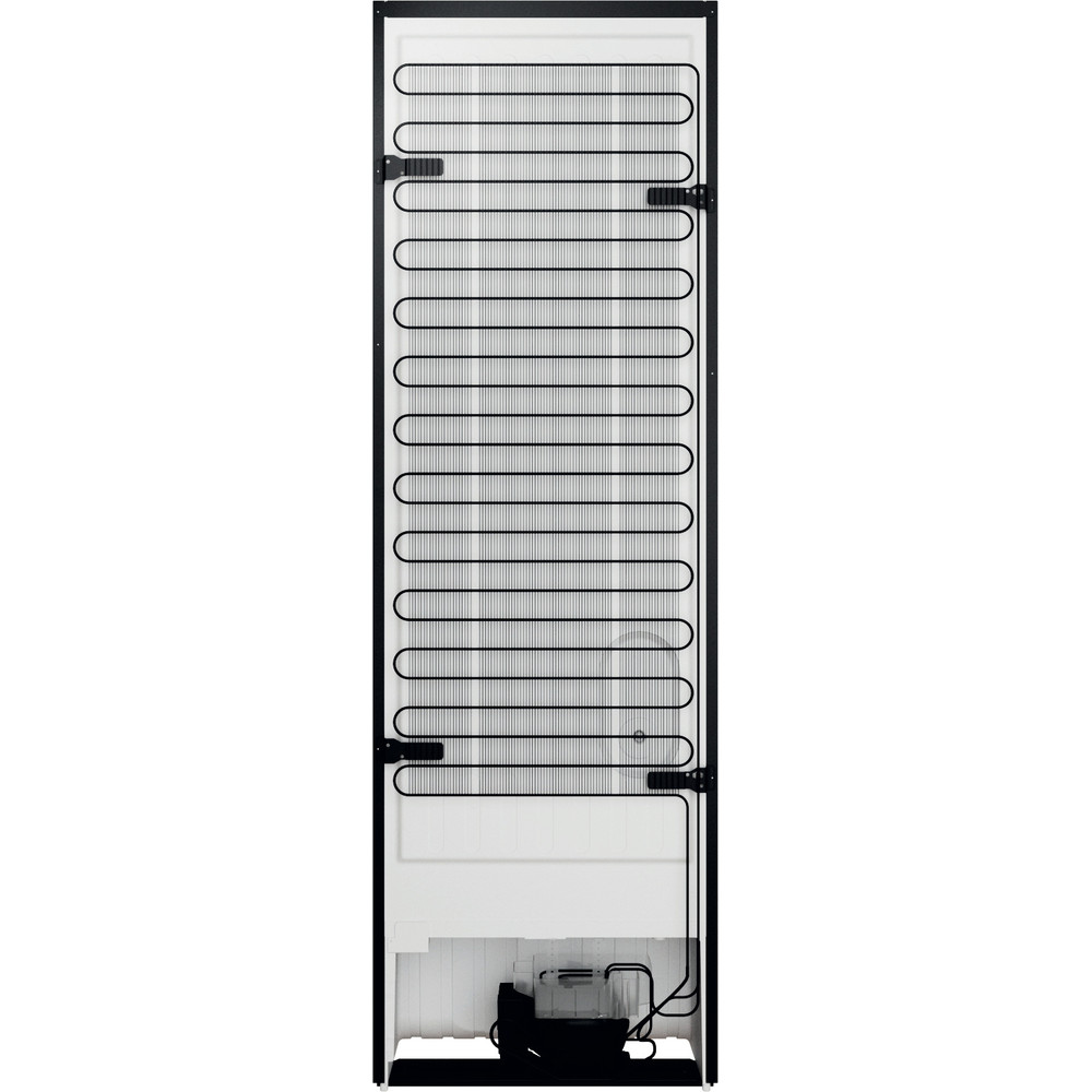 Indesit Koel/vriescombinatie Vrijstaand INFC8 TO22K Zwart 2 deuren Back / Lateral