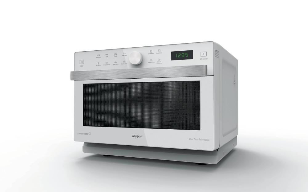 Whirlpool Mikroaaltouuni Vapaasti sijoitettava MWP 337 W Valkoinen Elektroninen 33 Mikroaaltoyhdistelmäuuni 900 Perspective