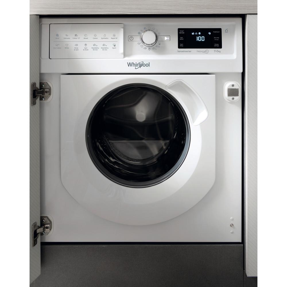 Whirlpool BI WDWG 7148 UK Integrated Washer Dryer in White