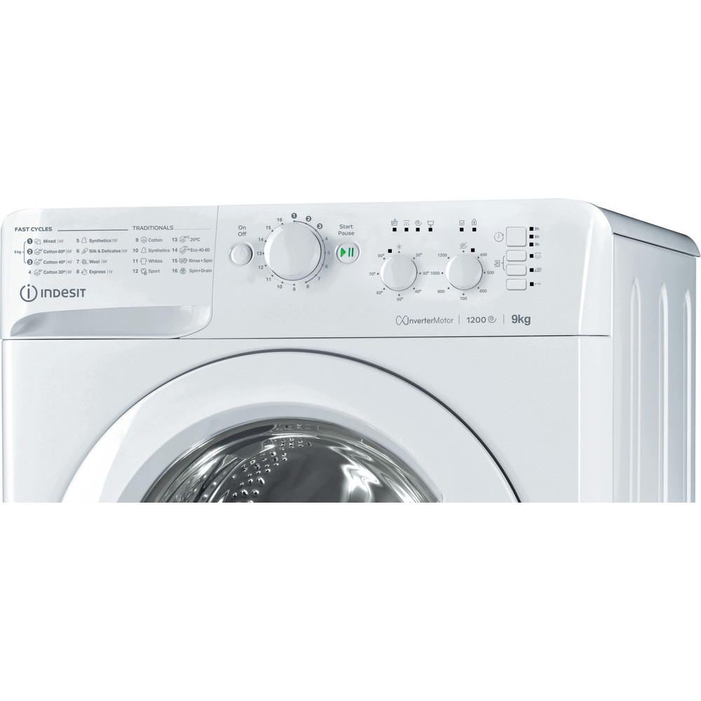 Indesit Washing machine Free-standing MTWC 91283 W UK White Front loader A+++ Control panel