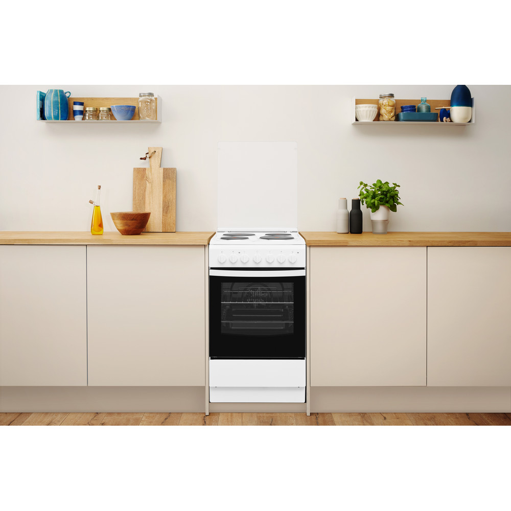 Indesit Готварска печка IS5E5PCW/E Бял Electrical Lifestyle frontal