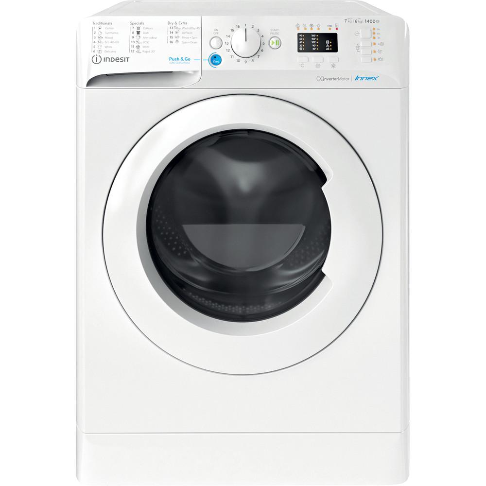 Indesit Pračka se sušičkou Volně stojící BDA 761483X W EE N Bílá Front loader Frontal