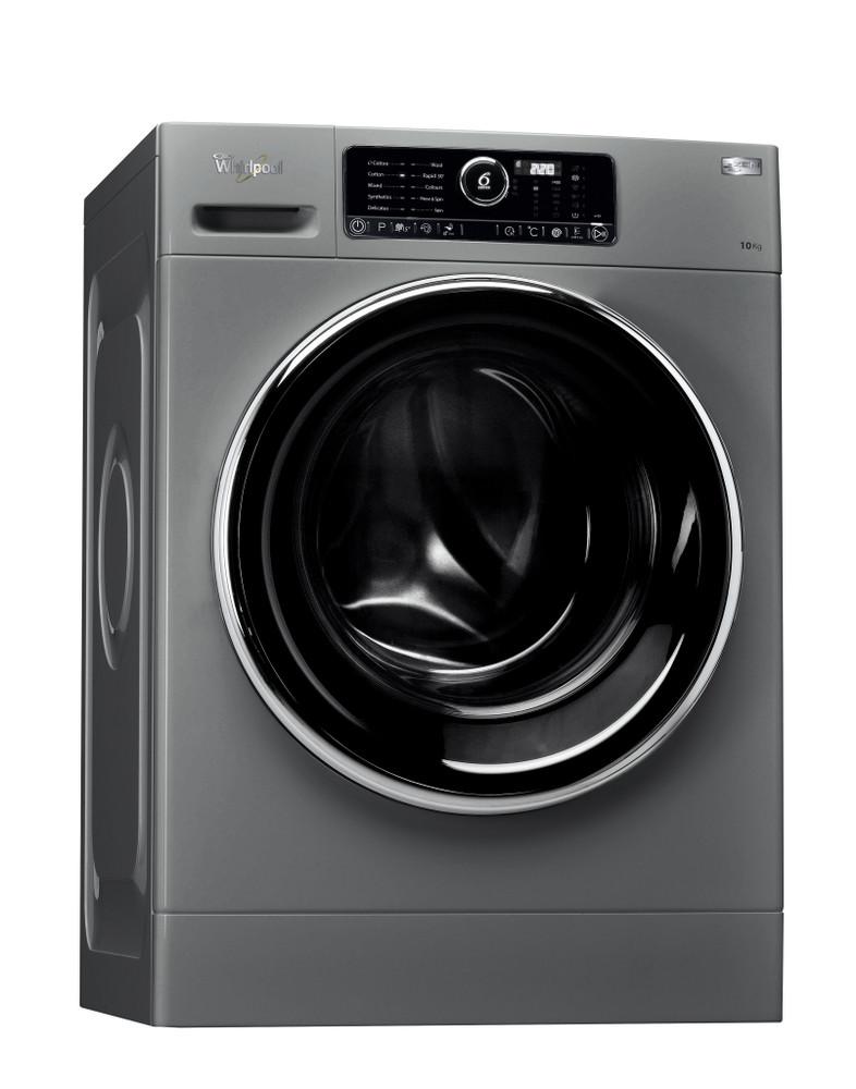 Whirlpool Washing machine مفرد FSCR 10420 Silver محمل أمامي A+++ Perspective