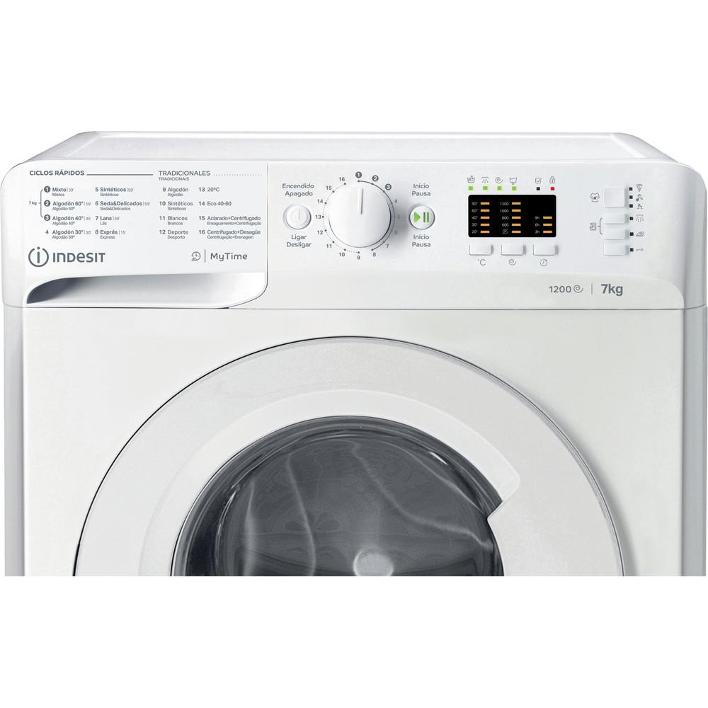 Indesit Máquina de lavar roupa Livre Instalação MTWA 71252 W SPT Branco Carga Frontal A+++ Control panel