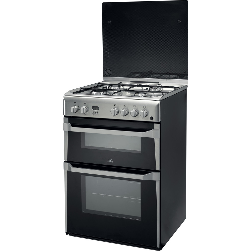 Indesit Double Cooker ID60G2(X) Inox A+ Stainless steel Perspective
